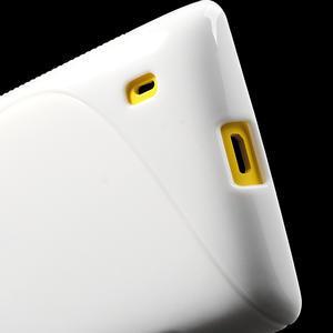 Gelové S-line pouzdro na Nokia Lumia 520- bílé - 5