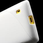 Gelové S-line pouzdro na Nokia Lumia 520- bílé - 5/6
