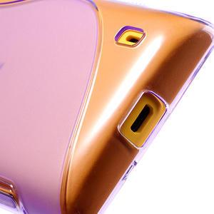 Gelové S-line pouzdro na Nokia Lumia 520- fialové - 5