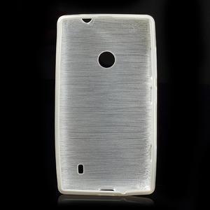 Gelové kartáčové pouzdro na Nokia Lumia 520- bílé - 5