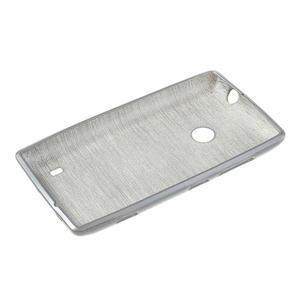 Gelové kartáčové pouzdro na Nokia Lumia 520- šedé - 5