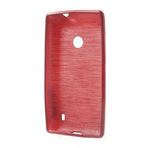 Gelové kartáčové pouzdro na Nokia Lumia 520- červené - 5