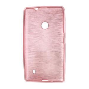 Gelové kartáčové pouzdro na Nokia Lumia 520- světlerůžové - 5