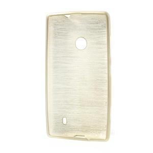Gelové kartáčové pouzdro na Nokia Lumia 520- zlaté - 5
