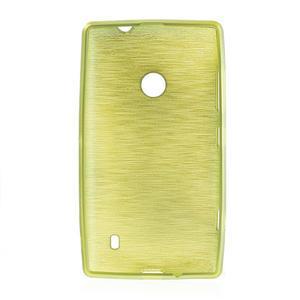 Gelové kartáčové pouzdro na Nokia Lumia 520- zelené - 5