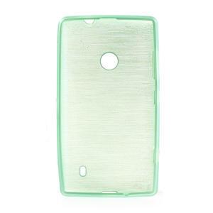 Gelové kartáčové pouzdro na Nokia Lumia 520- zelenomodré - 5