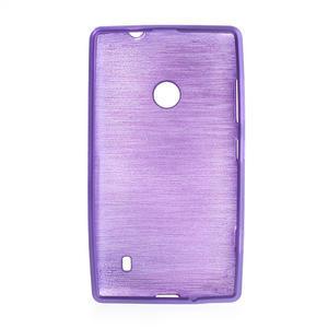 Gelové kartáčové pouzdro na Nokia Lumia 520- fialové - 5