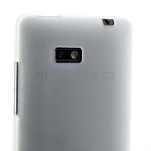 Gelové matné pouzdro pro HTC Desire 600- bílé - 5