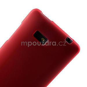 Gelové matné pouzdro pro HTC Desire 600- červené - 5