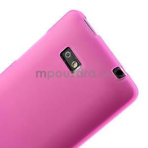 Gelové matné pouzdro pro HTC Desire 600- růžové - 5