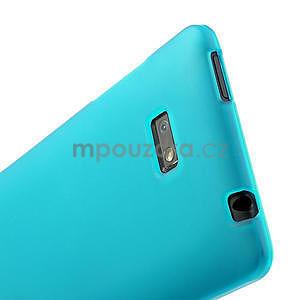 Gelové matné pouzdro pro HTC Desire 600- světlemodré - 5