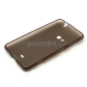 Gelové matné pouzdro pro Nokia Lumia 625- šedé - 5