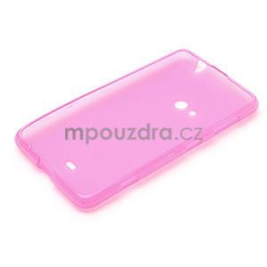 Gelové matné pouzdro pro Nokia Lumia 625- růžové - 5