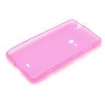 Gelové matné pouzdro pro Nokia Lumia 625- růžové - 5/5