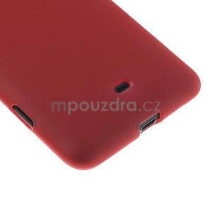 Gelové matné pouzdro pro Nokia Lumia 625- červené - 5
