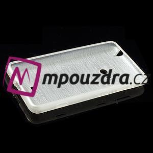 Gelové kartáčové pouzdro na Nokia Lumia 625 - bílé - 5