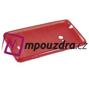 Gelové kartáčové pouzdro na Nokia Lumia 625 - červené - 5