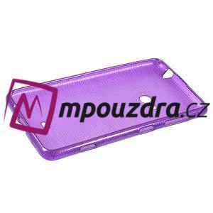 Gelové kartáčové pouzdro na Nokia Lumia 625 - fialové - 5