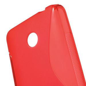 Gelové S-line pouzdro na Nokia Lumia 630- červené - 5
