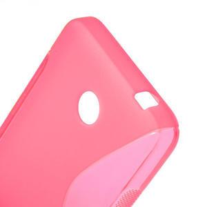 Gelové S-line pouzdro na Nokia Lumia 630- růžové - 5