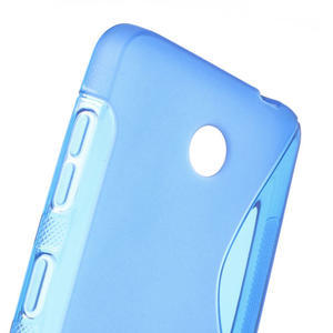 Gelové S-line pouzdro na Nokia Lumia 630- modré - 5