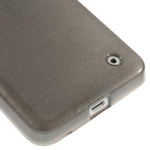 Gelové Kartáčové pouzdro na Nokia Lumia 630- šedé - 5