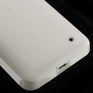 Gelové Kartáčové pouzdro na Nokia Lumia 630- bílé - 5