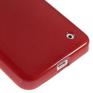 Gelové Kartáčové pouzdro na Nokia Lumia 630- červené - 5