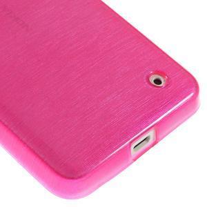 Gelové Kartáčové pouzdro na Nokia Lumia 630- růžové - 5