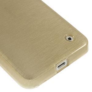 Gelové Kartáčové pouzdro na Nokia Lumia 630- zlatavé - 5