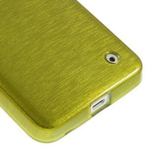 Gelové Kartáčové pouzdro na Nokia Lumia 630- zelené - 5