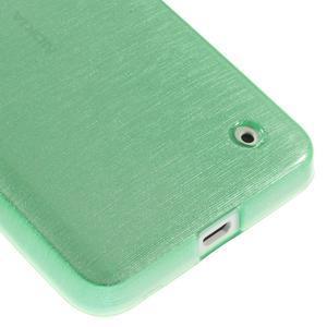 Gelové Kartáčové pouzdro na Nokia Lumia 630- zelenomodré - 5