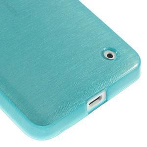 Gelové Kartáčové pouzdro na Nokia Lumia 630- modré - 5