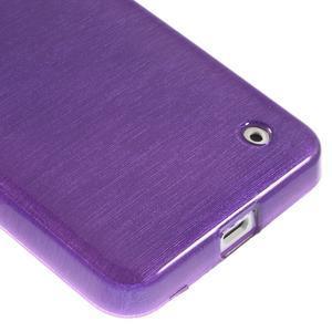 Gelové Kartáčové pouzdro na Nokia Lumia 630- fialové - 5