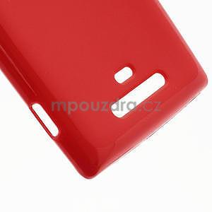 Gelové lesklé pouzdro pro Nokia Lumia 925- červené - 5