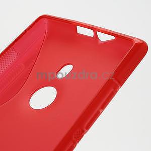 Gelové S-liné pouzdro pro Nokia Lumia 925- červené - 5