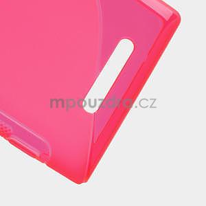 Gelové S-liné pouzdro pro Nokia Lumia 925- růžové - 5