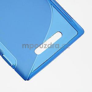 Gelové S-liné pouzdro pro Nokia Lumia 925- modré - 5