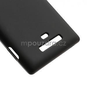 Gelové matné pouzdro pro Nokia Lumia 925- černé - 5