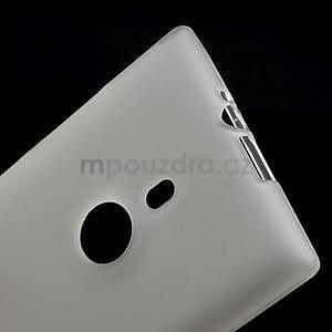 Gelové matné pouzdro pro Nokia Lumia 925- bílé - 5