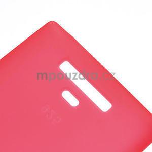 Gelové matné pouzdro pro Nokia Lumia 925- červené - 5
