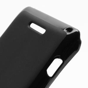 Gelové matné pouzdro na Sony Xperia L C2105- černé - 5