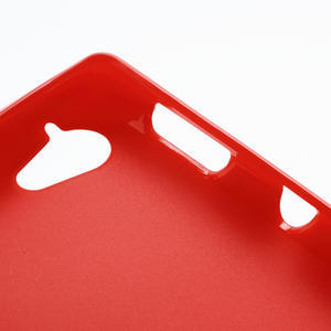 Gelové matné pouzdro na Sony Xperia L C2105- červené - 5