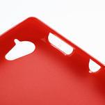 Gelové matné pouzdro na Sony Xperia L C2105- červené - 5/5