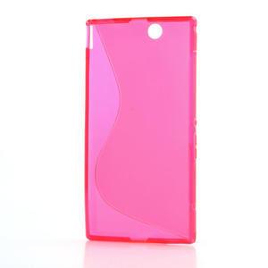 Gelove S-line pouzdro na Sony Xperia Z ultra- růžové - 5