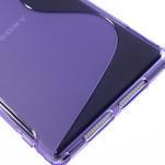 Gelové S-line pouzdro na Sony Xperia Z1 C6903 L39- fialové - 5/5