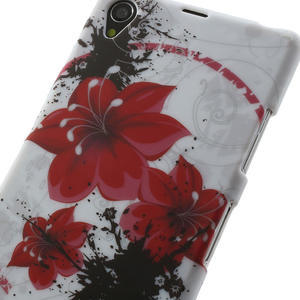 Gelové pouzdro na Sony Xperia Z1 C6903 L39- červený květ - 5