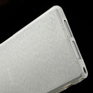 Kartáčované pouzdro na Sony Xperia Z1 C6903 L39- bílé - 5