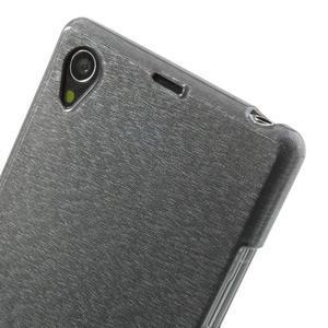 Kartáčované pouzdro na Sony Xperia Z1 C6903 L39- šedé - 5