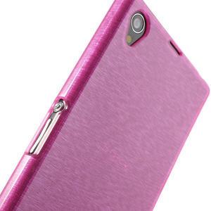 Kartáčované pouzdro na Sony Xperia Z1 C6903 L39- růžové - 5
